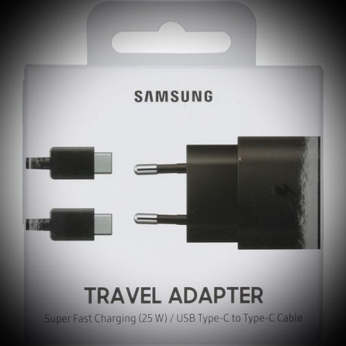 Samsung Charger 220V 2A 25W USB Typ C Cable Black TA800XB Blister